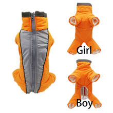 Trousers Work-Clothes Down-Jacket Pet-Jumpsuit Puppies Reflective Warm Dog Winter Waterproof