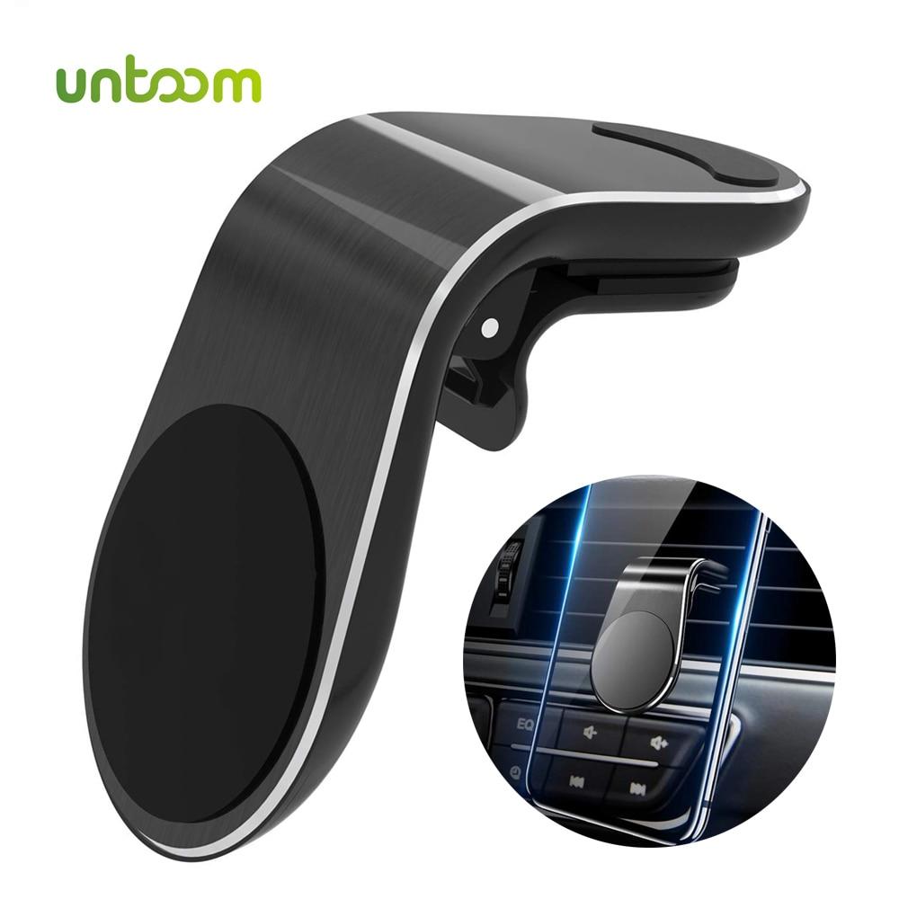 Untoom Magnetic Car Phone Holder 360 Rotation In-Car Air Vent Clip Cell Phone Mount Magnet Smartphones GPS Telefone Holder Stand