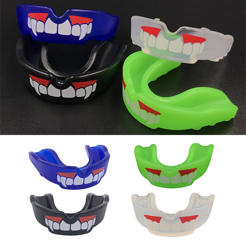 Adults Mouth Guard Mouthpiece Teeth Protective Braces With Storage Box & Lanyard For Boxing Rugby