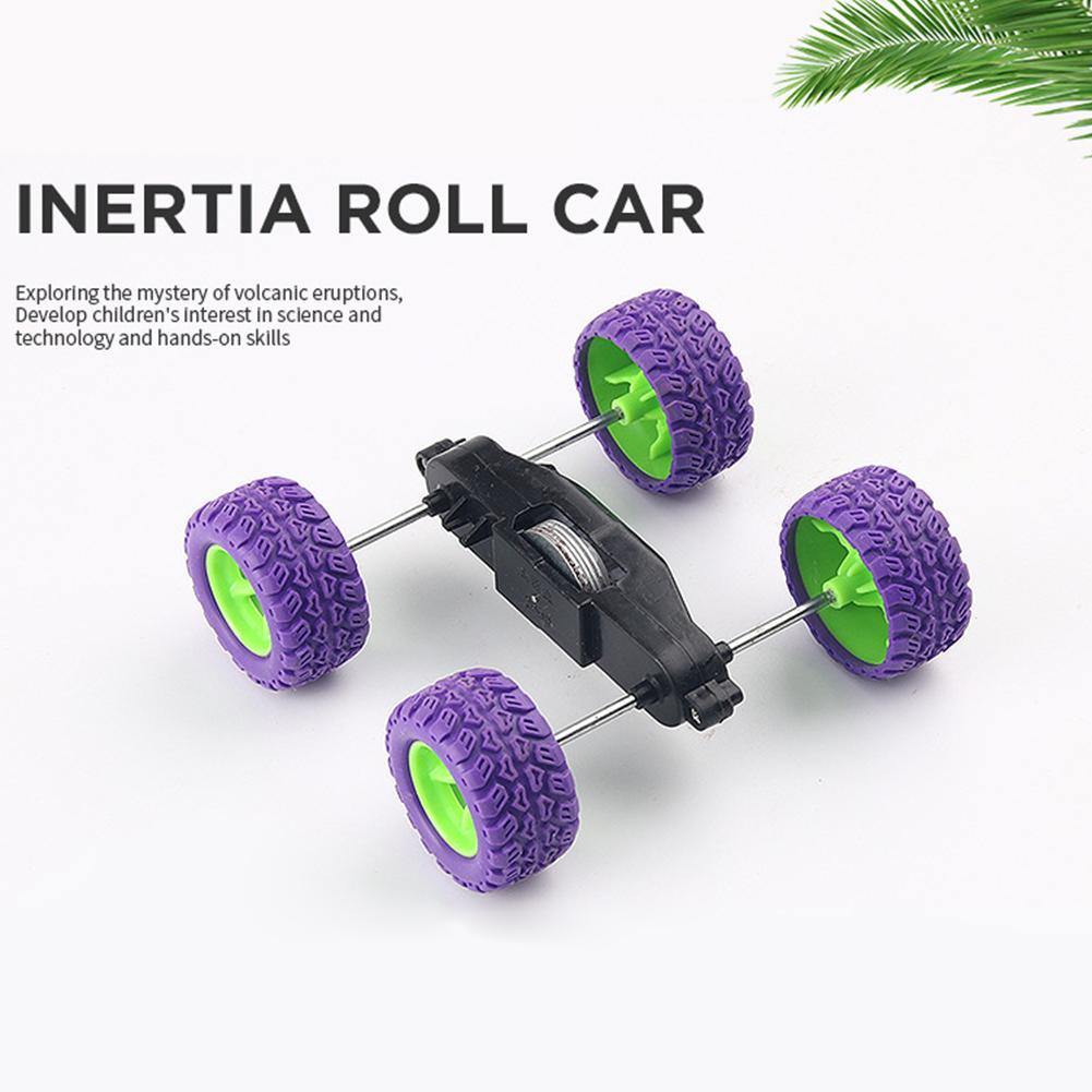 DIY Inertia Roll Over Car Materials Vehicle Projects Science Experiment Model Kit Creative Educational Teaching Equipment