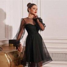 Маленькие черные платья для выпускного вечера сексуальные иллюзионные