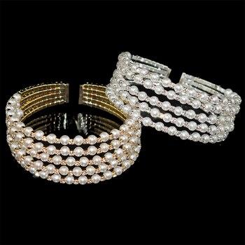 Crystal Pearl Layer Bracelet  2