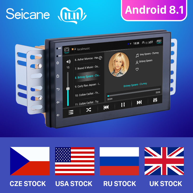 Seicane Android 8.1 7 inch 2 Din Universal Car Radio GPS Multimedia Unit Player For Volkswagen Nissan Hyundai Kia toyata CR-V image