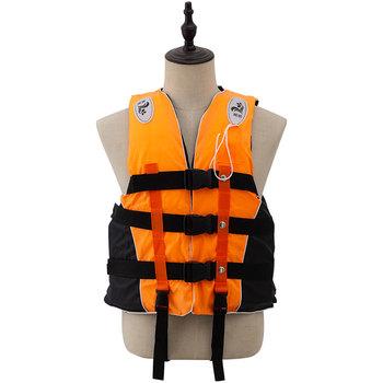 Kamizelka ratunkowa dla dorosłych poliester pływanie żeglarstwo narciarstwo Surfing Survival Drifting kamizelka ratunkowa z gwizdkiem sporty wodne kurtka męska tanie i dobre opinie HI BLACK 3 lat Diving Vest life jacket lifeguard float life jacket man Adult Life Vest