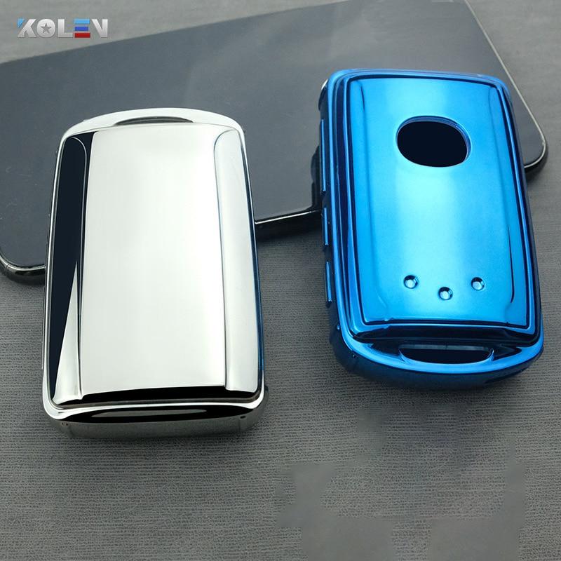 Мягкий ТПУ чехол для автомобиля с дистанционным управлением для Mazda 3 Alexa CX4 CX5 CX8 2019 2020 3 кнопки 4 кнопки авто ключ оболочки Стайлинг Аксессуары