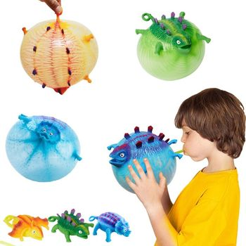 4Pcs/Set Kids Children Funny Blowing Inflatable Animals Dinosaur Balloons Novelty Toys Anxiety Stress Relief Squeeze Ball Gift - discount item  34% OFF Novelty & Gag Toys