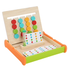 цена на Montessori Education Four Color Game two side Wooden Toys early learning toys children games toys Preschool Training Toy