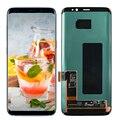 Original Für Samsung Galaxy S8 G950 G950F Touchscreen Digitizer LCD Display Für Samsung G955 S8 Plus G955F Rot Brennen-schatten