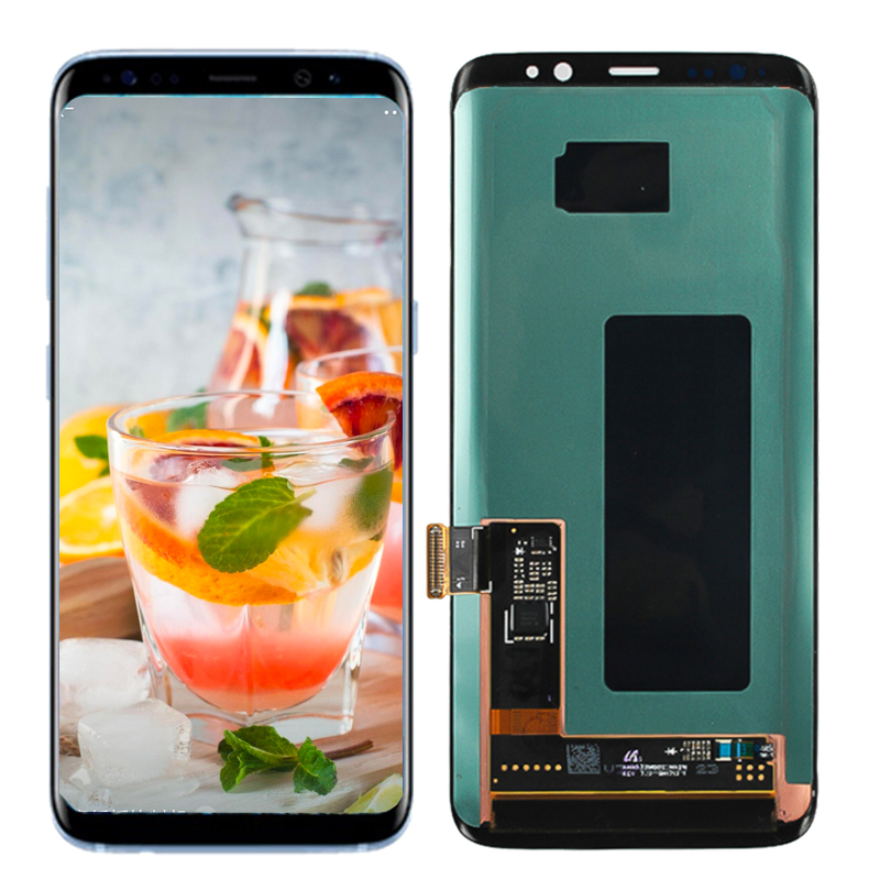 Original For <font><b>Samsung</b></font> Galaxy S8 <font><b>G950</b></font> G950F Touch Screen Digitizer LCD <font><b>Display</b></font> For <font><b>Samsung</b></font> G955 S8 Plus G955F Red Burn-Shadow image