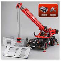 Technic Series Compatible legoinset 42082 Complex Rough Terrain Crane Building Blocks Bricks Educational Toys birthday Gift