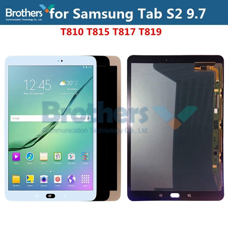 Pantalla LCD AMOLED para Samsung Galaxy Tab S2 9,7 pantalla LCD para Samsung T810 T815 T817 T819 LCD montaje táctil digitalizador de pantalla táctil