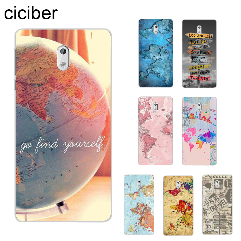 ciciber World Map Travel Cover For <font><b>Nokia</b></font> 8 7 7.1 6 6.1 5 <font><b>5.1</b></font> 3 3.1 2.1 Plus 9 PureView <font><b>Phone</b></font> <font><b>case</b></font> For <font><b>Nokia</b></font> X7 X6 X5 X3 Soft TPU image