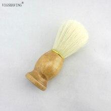 VIGSHAVING Wood handle Natural hog bristle  shaving men brush