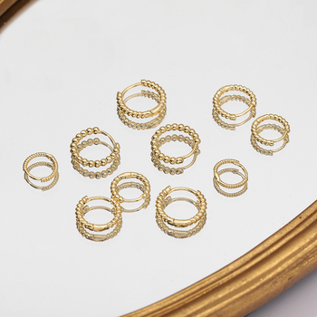 Gold Silver Color Stainless Steel Hoop Earrings for Women Small Simple Round Circle Huggies Ear Rings Steampunk Accessories 4