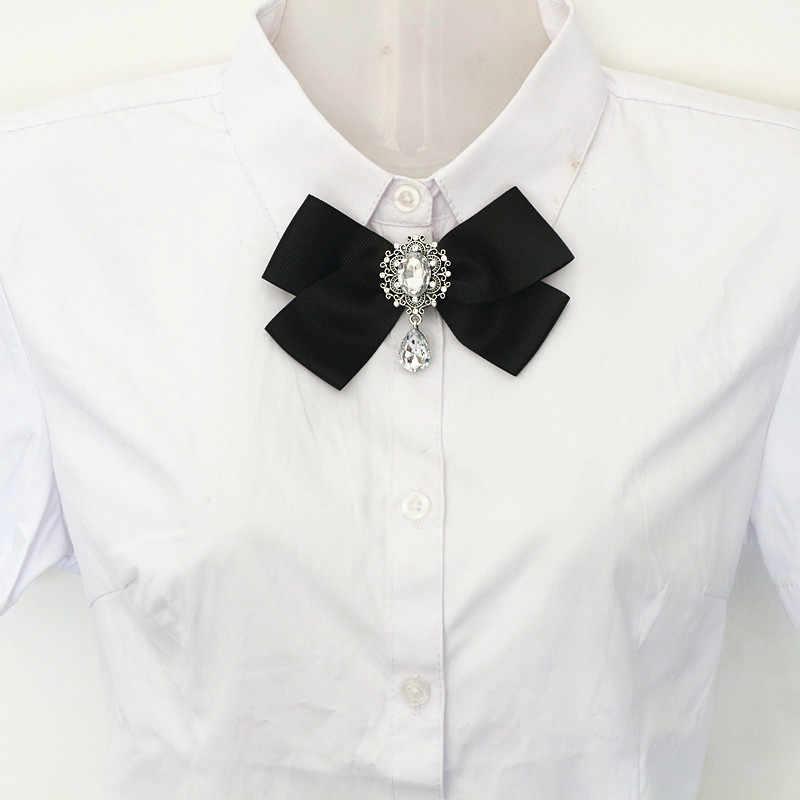 Cravatte di moda Corpetto Bowknot Cravatta Arco Del Nastro Del Tessuto Del Collare Spilla Spilla Spilli Per Le Donne Della Camicia Degli Uomini Dei Monili