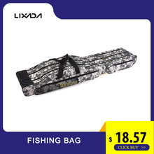 Blusea Fishing Bag Rod 120cm/150cm 3 Layers Portable Folding Reel Tackle Carry Backpack Storage