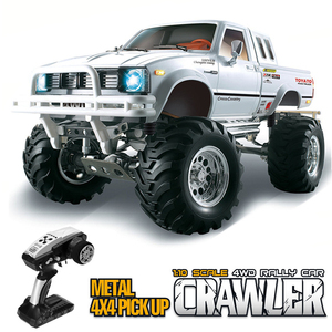JTY Toys RC Trucks 1:10 TOYATO 4X4 металлический пикап Bigfoot Rock Crawler Truck Buggy 30 км/ч дистанционное управление внедорожный автомобиль для взрослых