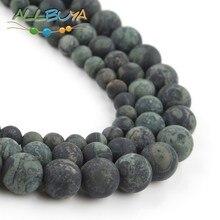 Natural Dark Green Zebra Jaspers Round Loose Stone Beads for Jewelry Making DIY Bracelet 15 Perles 4/6/8/10/12mm Minerals Beads 4 6 8 10 12mm matte blue sandstone round beads natural stone beads for jewelry making diy bracelet 15 perles minerals beads