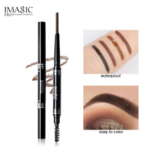 IMAGIC Professional Waterproof Eyebrow Pencil with Brush Twin Head Rotating Automatic triangle