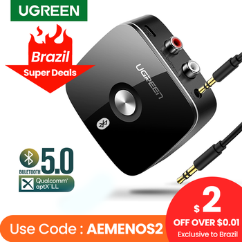 UGREEN Bluetooth RCA Receiver 5.0 aptX LL 3.5mm Jack Aux Wireless Adapter Music for TV Car RCA Bluetooth 5.0 3.5 Audio Receiver 1
