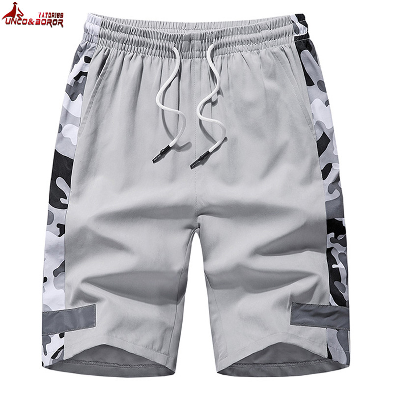 Plus Size 7XL,8XL Bermuda Masculina Men Camouflage Short Homme Fitness Reflective Streetwear Shorts For Sporting Sweatpants