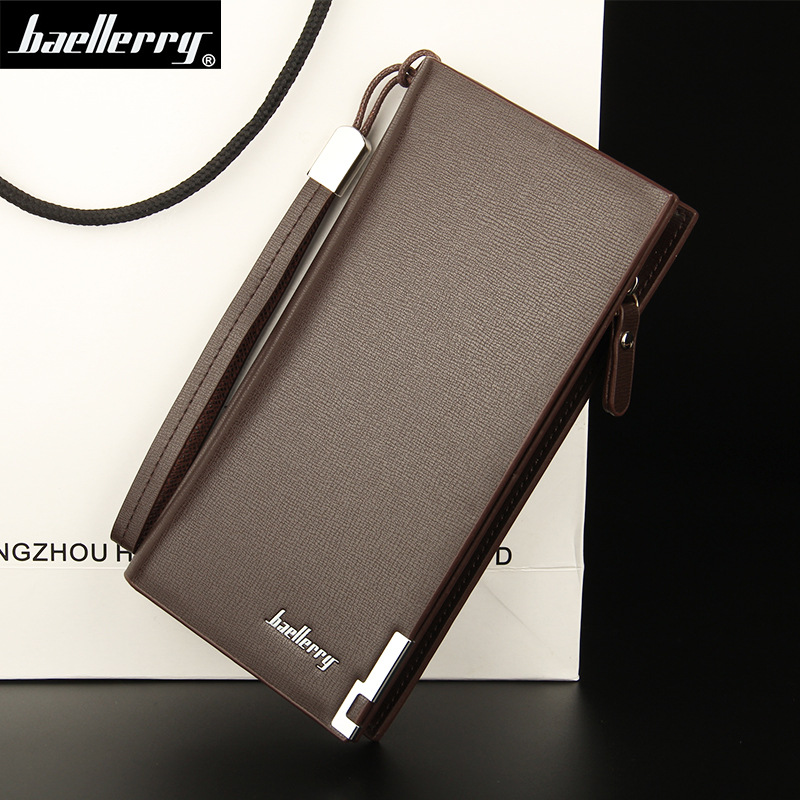 Baellerry Business Big Capacity Men Wallets Long High Quality Card Holder Male Purse Zipper Brand PU Leather Wallet For Men