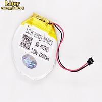 Batería recargable redonda de polímero de litio para reloj inteligente, 3,7 V, 3,85 V, 403535, 450mAh, para Finow x3, Finow x5, reemplaza a lem5 lem 5