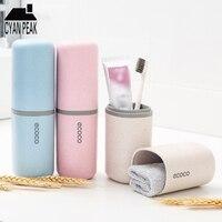 Tragbare Reise Waschen Tasse Set Lagerung Box Zahnpasta Zahn Pinsel Handtuch Tragbare Zahnbürste Protector Startseite Organizer Bad Set