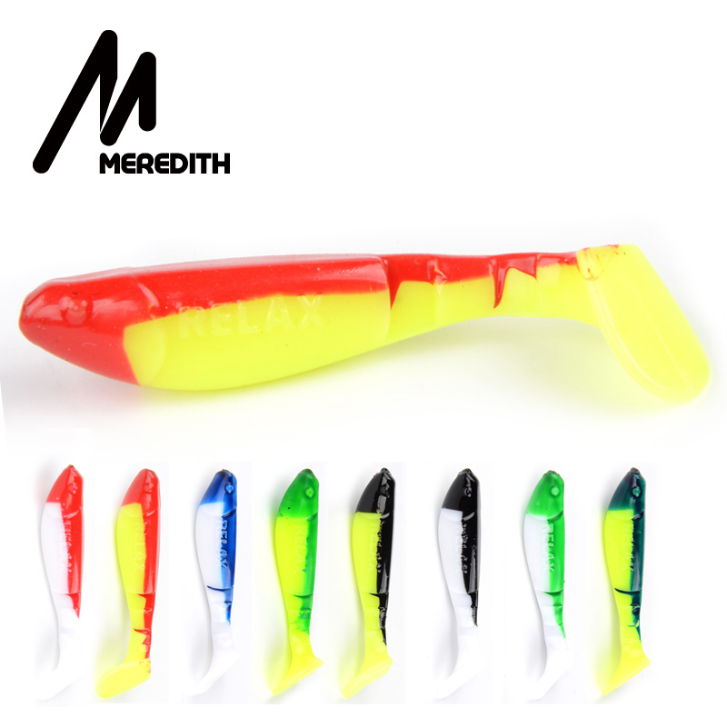 MEREDITH 8pcs Relax Kopyto 7cm 4.5g Fishing Soft Baits Plastic Jig Heads Pike Lures Fishing Soft Lures