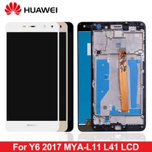 For Huawei Nova Young 4G LTE / Y6 2017 / Y5 2017 LCD Display Touch Screen Digitizer Assembly With Frame MYA-L11 MYA-L41 Display(China)
