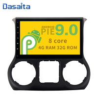 10.2 Android 9.0 4GB RAM 32GB ROM 1 din Car Radio Player for Jeep Wrangler 2015 2016 with Octa Core Bluetooth