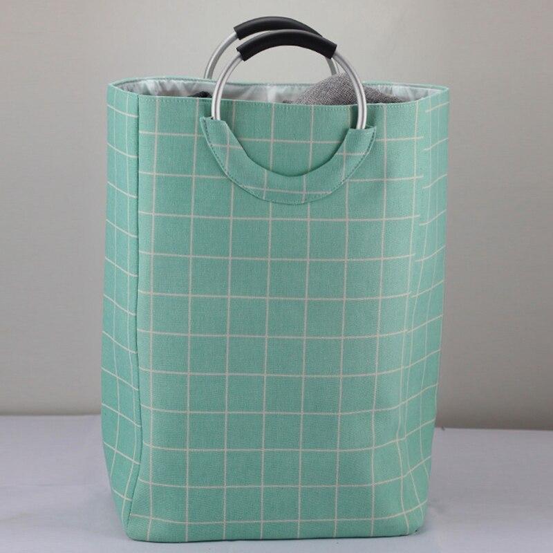 Canvas + EVA Smock Pocket Storage Storage Debris Box Box Folding New Home Hamper Basket|Laundry Baskets| |  - title=