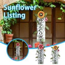 Ornaments Butterfly-Door Decoration Garden Home Flower Sign-Pendant Doorplate Wall-Fence