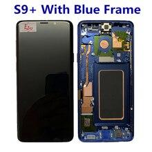 Originale AMOLED Con Cornice per il Samsung Galaxy S9 PIÙ G965A G965U G965F G965V display LCD touch screen con punti di montaggio