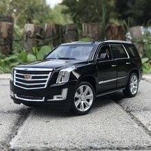 Welly 1:24 Cadillac Escalade внедорожник автомобиль литья под давлением дисплей Металлическая Модель День рождения детская игрушка для детей мальчиков