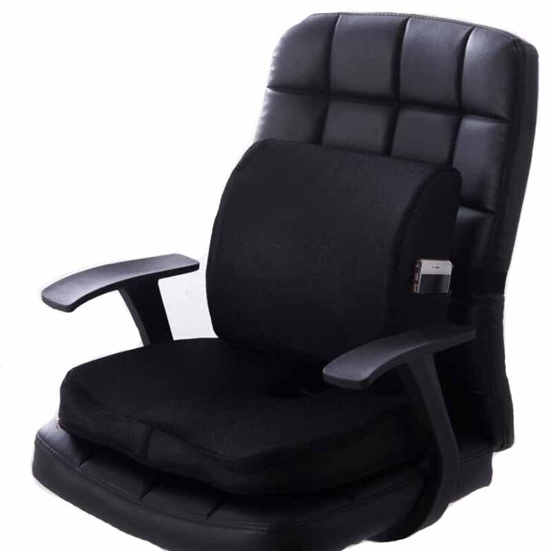 Assento de carro coxim cóccix ortopédico memória espuma assento massagem cadeira do escritório volta massagem almofada