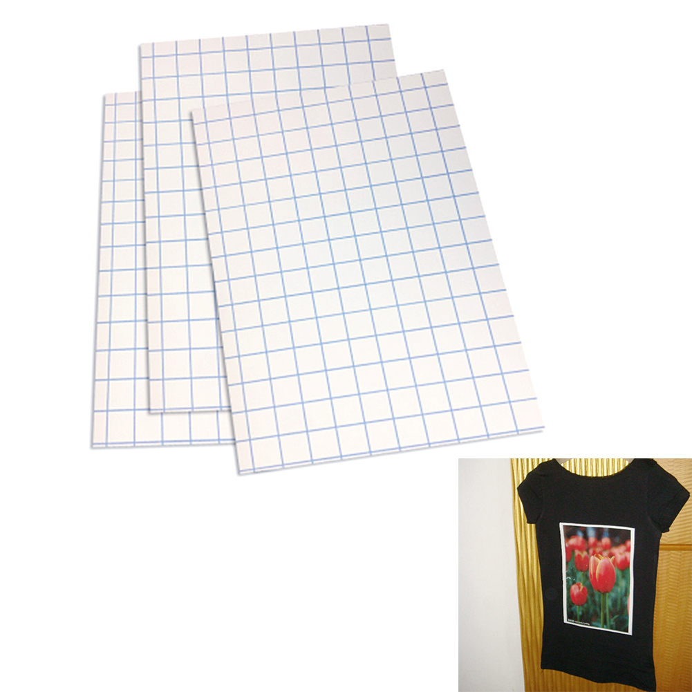 10 Pcs Iron On T Shirt Printing Paper Sheets For Light Fabrics A4 Transfer Paper