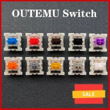 Outemu Switch Mechanical Keyboard Switch 3Pin Clicky Linear Tactile Silent Switches RGB LED SMD Gaming Compatible With MX Switch