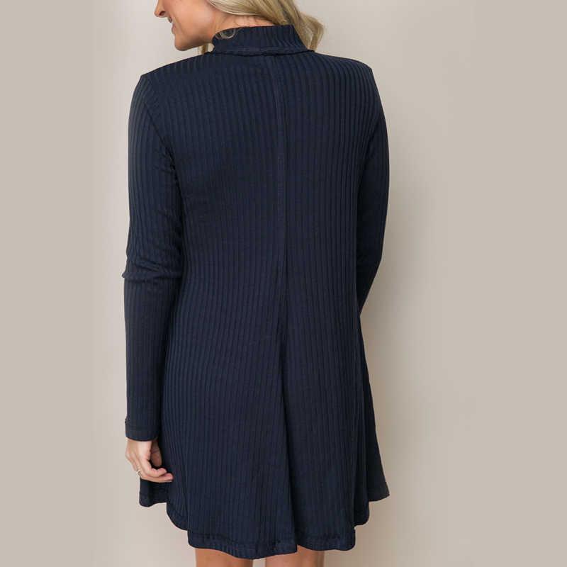 เซ็กซี่ Halter V คอยาวเสื้อกันหนาวผู้หญิงเสื้อฤดูใบไม้ร่วงหลวมแขนยาว Elegant Pullovers เสื้อกันหนาวสุภาพสตรีเสื้อกันหนาวชุด