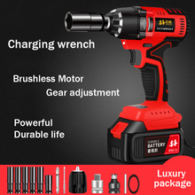 Electric-Wrench Impact Lithium-Battery-Charging-Wrench Torque Brushless Auto Repair-Rack-Sleeve