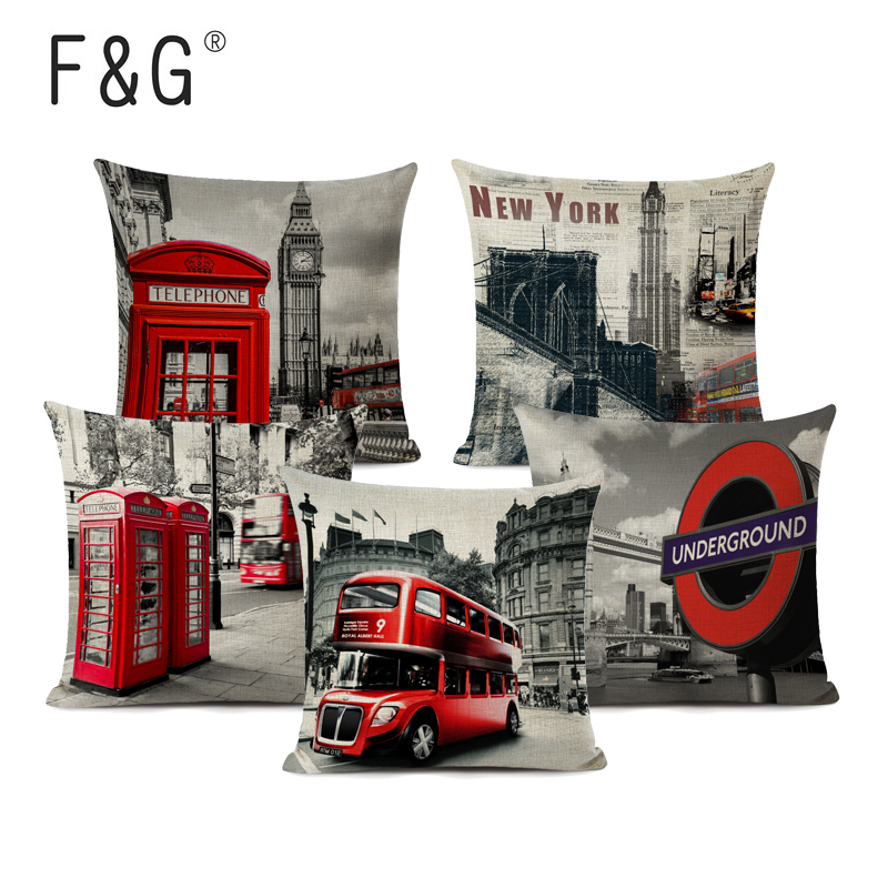 England Stylish Pillow Covers