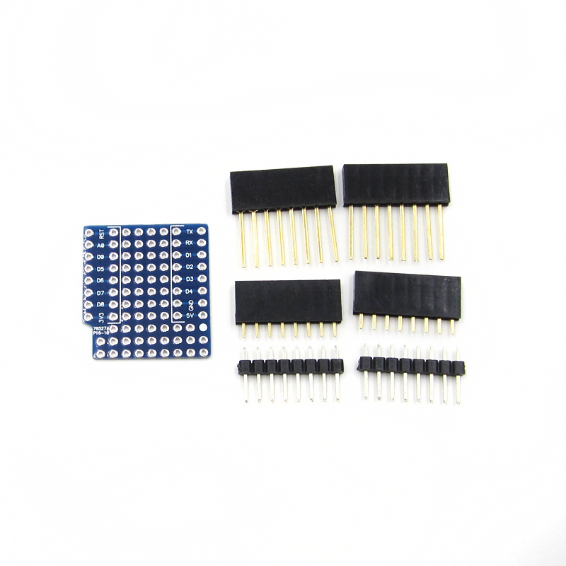 10PCS For WeMos D1 Mini Double Sided Perf Board Compatible ProtoBoard Shield