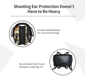 Image 4 - ZOHAN 전자 귀마개 NRR 22DB 전술 사냥 귀 플러그 전자 보호 슈팅 귀 Muffs 전술 귀마개 촬영