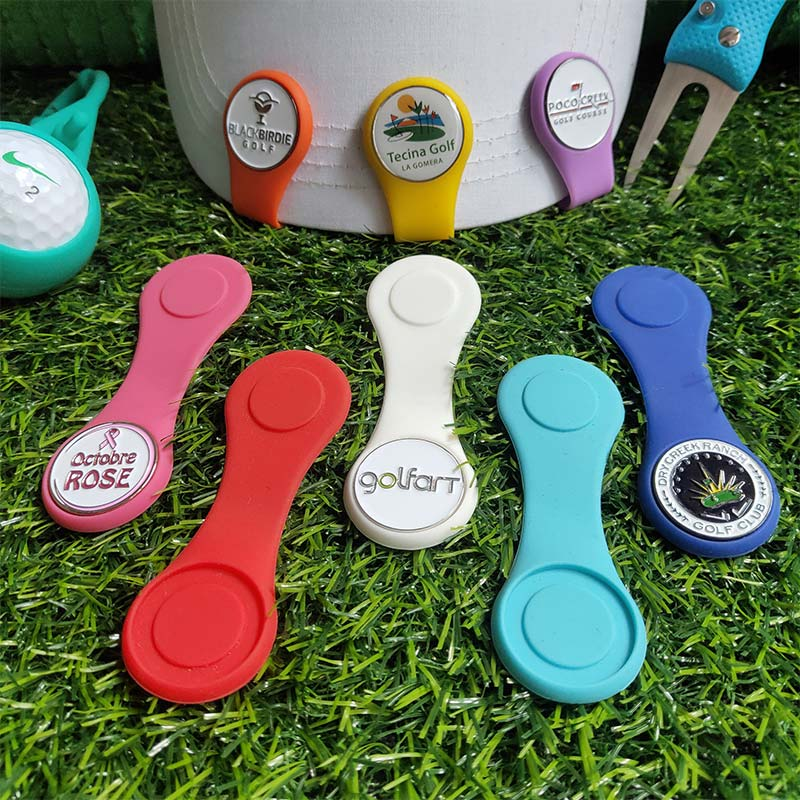 Купить с кэшбэком Silicone Golf Hat Clip Ball Marker Holder with Strong Magnetic Attach to Your Pocket Edge Belt Clothes Gift