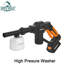 цена на 12V High Pressure Car Washer Portable Cordless Cleaner Rechargable Self-priming Washing Machine Electric Cleaning