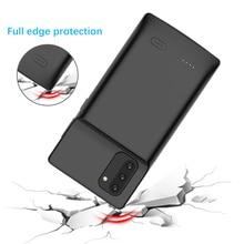 Hinweis 10 Flüssigkeit silikon Power Fall Für Samsung Galaxy Note 10 Plus stoßfest Batterie Ladegerät Fall Extenal Power Bank Abdeckung