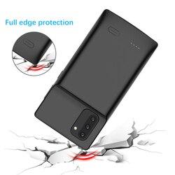 Nota 10 Líquido silicone Caso O Poder Para Samsung Galaxy Nota Banco de Potência Caso Carregador de Bateria Extenal 10 Mais à prova de choque Capa