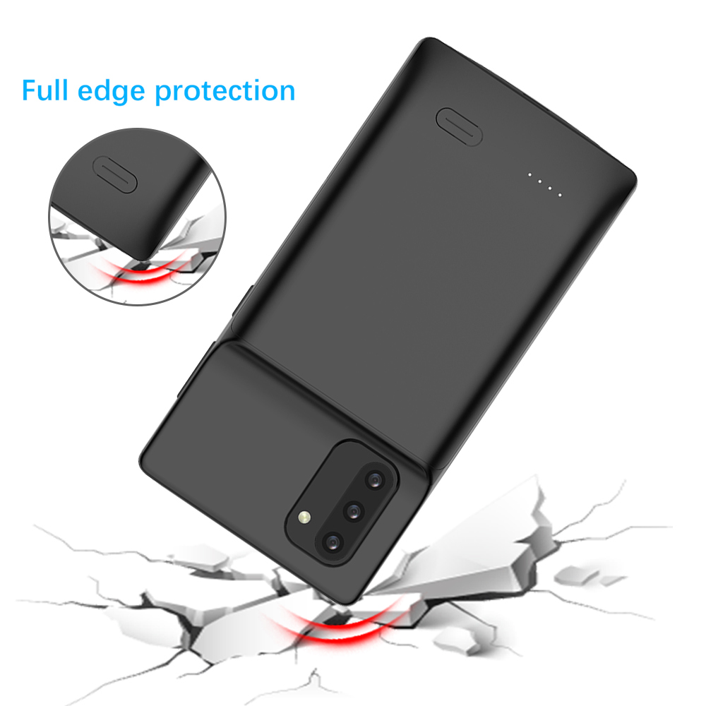 Note 10 Liquid Silicone Power Case For Samsung Galaxy Note 10 Plus Shockproof Battery Charger Case Extenal Power Bank Cover
