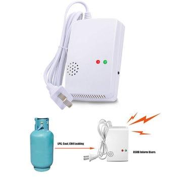 цена на 110-270VAC Standlone EU US Plug Home Anti Fire Gas Leak Detector 85db Propane Butane Methane Coal Gas LPG Sensor Alarm