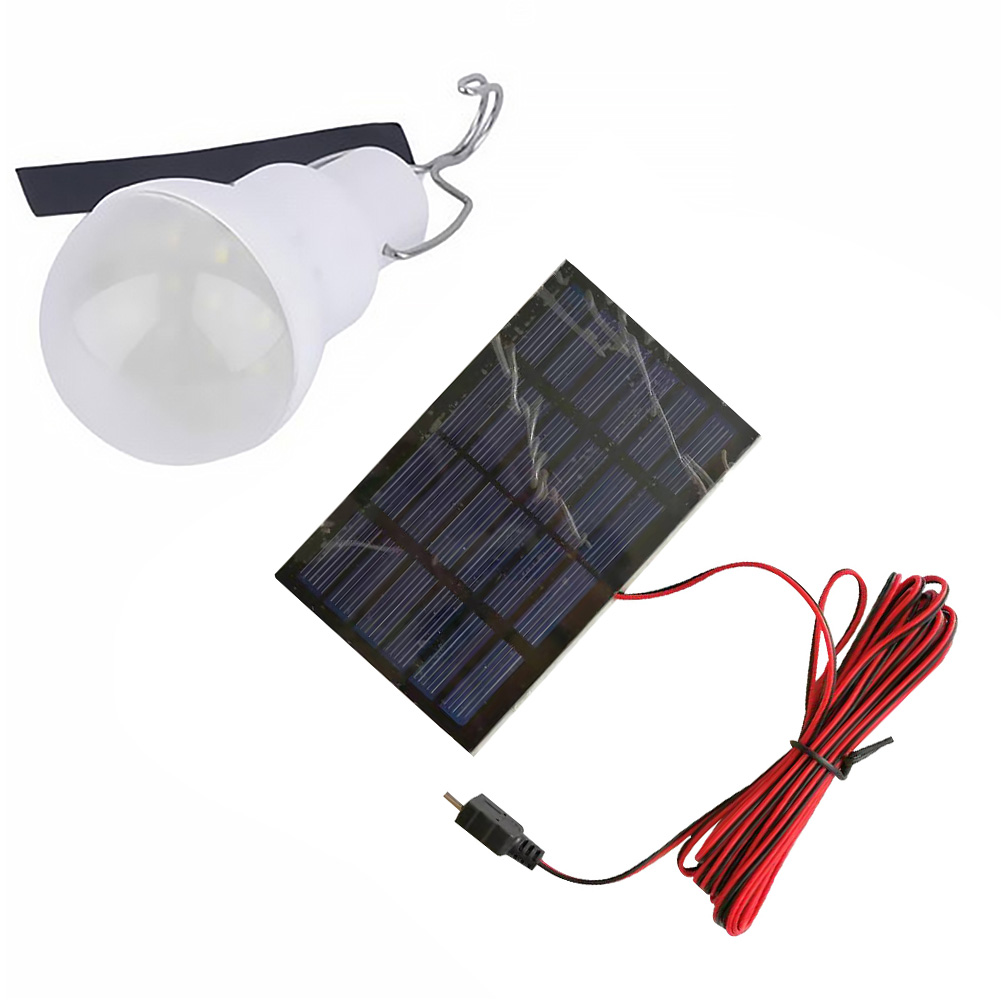 Portable Solar LED Bulb Camping Light Waterproof Rechargeable Hanging Fishing